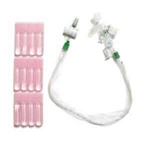 KIMVENT* MultiAccess Port Catheter, Double Swivel Elbow, WET PAK*